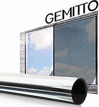 GEMITTO Sonnenschutz Spiegelfolie Fensterfolie