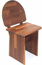 Gemütlicher Stuhl / Hocker mit Lehne, aus Echtholz Robinie, geöl