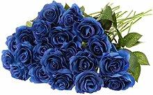 Generic 20pcs Kunstblumen Rose Blüht Blumenköpfe