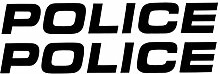 Generic 2X Police Aufkleber mit je 40cm Länge, US