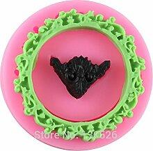 Generic 3D neue Runde Spiegel Rahmen Silikon Fondant Kuchen Form Schokolade Cookie craft Formen Backen Dekorieren Werkzeuge Küche Zubehör
