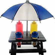 Generic 6Küche Werkzeuge, eine Reihe von Werkzeug mit Salz & Pfefferstreuer Flaschen/Holz Garten Tisch/Regenschirm