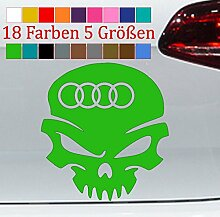 Generic Audi Aufkleber Totenschädel Tuning Auto