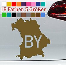 Generic Bayern Urlaub Aufkleber Karte Bundesland