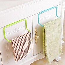 Generic Bluee: 1Stück Badezimmer Küche Schrank Aufhänger über Aufhänger Handtuchhalter Haken Bar Halter Schublade Aufbewahrung Küche Werkzeuge # 226217