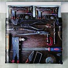 GenericBrands Bettwäsche 3 Teilig Werkzeuge und