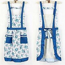 Generic Braun: garantiert 100% Schürzen für Frau 0611804190011Küchenschürze, Peinture Schürzen Floral Schürze Frauen Lady Kleid mit Pocket Kochen Baumwolle Schürze