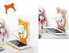 Generic Braun: Handy Wand Ladegerät Adapter Ladekabel Halter zum Aufhängen Halterung Ständer Unterstützung Ladekabel Kleiderbügel Rack Regal Handy Haken Regal