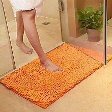 Generic Chenille Badteppich WC Teppich Matten und Teppiche für Badezimmer Wasser absorbierenden Teppich Küche Teppiche Schlafzimmer Bodenmatten