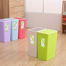 Generic Creative Home Innendekoration Mülleimer einfach Wohnzimmer Küche Kunststoff Mülleimer kann Fashion Office Papierkorb, grün, Standard
