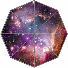 Generic Custom Einzigartige Galaxy Space Universe Design Auto Faltbare Regen Regenschirm Wind beständig winddicht Floding Reise Regenschirm M