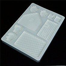 Generic diy Silikon Fondant Kuchenform 3D House Tür Kuchen Dekoration Schokolade Cutter Form Küche Zubehör Kuchen Werkzeuge