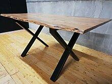 Generic Esstisch Baumkante Baumstamm Holz Tisch