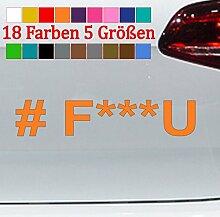 Generic # F***U Aufkleber Hashtag Fuck VW Audi GTI