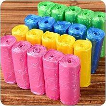 Generic Gelb: 150PCs/lot Gute Gerät besitzt Farbige Trash Taschen, 6Farben Garbage Tasche Aufbewahrung, Kunststoff Korb Papierkorb Trash Halterung, Küche Eimer Tasche