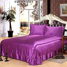Generic Glanz Satin Bettbezug Bettwäsche Set