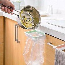 Generic Grün: Garbage Tasche Halter Desktop Müllbeutel zum Aufhängen Rack Speicher, Halter Schranktür Trash halten Stand Küche Zubehör