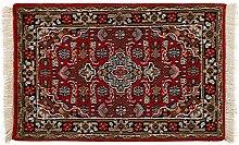 Generic Hochwertiger Orientteppich Orientdesign-Muster (ca. 60x90 cm) · Klassisch · handgeknüpft · Schurwolle · Rot · 14595