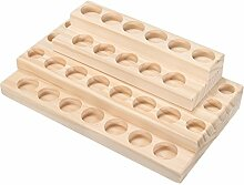 Generic Holz-Flaschenständer mit 30 Fächern für