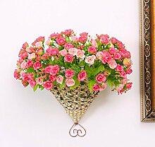 Generic Home Garten Künstliche Blumen Hängekörbe Big Fan zum Aufhängen Spring C 'est Anzug Pink