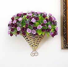 Generic Home Garten Künstliche Blumen Hängekörbe Big Fan zum Aufhängen Spring C 'est Anzug Viole