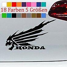 Generic Honda Wings Totenkopf Civic Aufkleber Moto