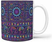 Generic Kaffeetasse aus Keramik, Elefant, 325 ml,