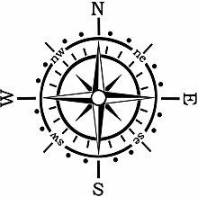 Generic Kompass Aufkleber Polarstern Windrose