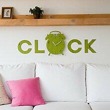 Generic Kreative ruhige Wanduhr, Hauptdekoration Wandtaktgeber, moderne Art und Weisewandtaktgeber, Grün18.Zoll