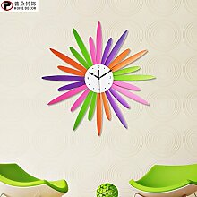Generic Kreativer Hausanhänger, Schlafzimmer Wanduhr, dekorative Wanduhr, ruhige Wanduhr, Farbe