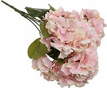 Generic Künstliche 5 Köpfe DIY Kunstseide Blume Hortensie Pflanze Hochzeit Partei Garten Dekor - Rosa, 7cm