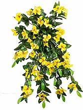 Generic Künstliche Blumen, Party, Hochzeit, Dekoration, 2Stück, gelb