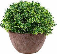 Generic Künstliche Glück Gras Pflanze Blätter Vergießen Bonsai Blumen Kunstblumen im topf Garten Haus Deko - Grün