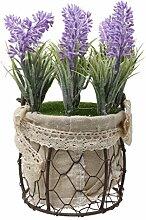 Generic Kunstpflanze, Dekopflanze, aus Kunststoff, mit Topf, Kunstblumen, Dekobaum, Tischdeko, Haus Deko - Rund, 9x17cm