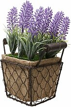 Generic Kunstpflanze, Dekopflanze, aus Kunststoff, mit Topf, Kunstblumen, Dekobaum, Tischdeko, Haus Deko - Platz , 10x17cm