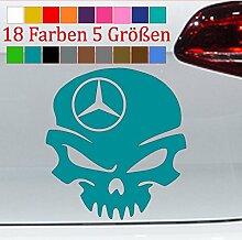 Generic Mercedes Aufkleber Totenkopf AMG Skull