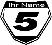 Generic Motocross Aufkleber Startnummer 195x155 mm