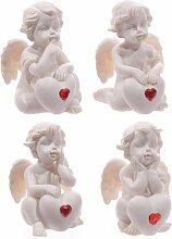 Generic Netter sitzender Liebes-Engel mit rotem