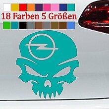 Generic Opel Aufkleber Totenschädel OPC Tuning