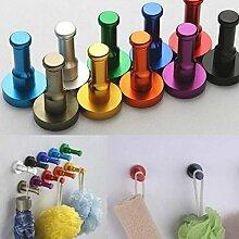 Generic Orange: DIY Handtuch Wandhaken Badezimmer Küche Tür Kleidung Schlüssel, hat Bag Kleiderbügel Rack Holder