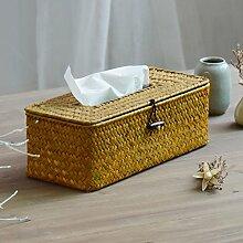 Generic Pastoral Stil Stroh Tissue Box