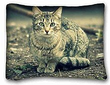 "Generic Personalized Animal Pillowcase Standard Size 20""""X26"""" Design Pillow Case Cover suitable for X-Long Twin-bed"