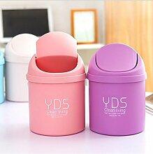 Generic Pink: Candy tragbar Kunststoff Desktop Mülltonne Trash Dosen Mini Tisch Abfall Behälter Mülleimer Schreibtisch Organizer Kids Schlafzimmer reinigen Box