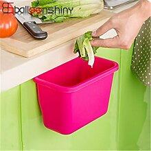 Generic Rose Rot: 1Stück zum Aufhängen Küche Schrank Tür Schublade Kunststoff Mülleimer Multifunktional Kleinteile Organizer Halter Praktische Aufbewahrung Korb