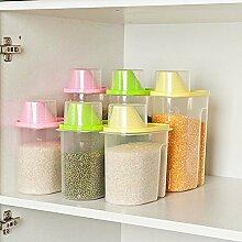 Generic S, grün: Hot Verkauf Lebensmittel Getreide Vorratsdose Box Container Küche Zubehör Candy Box Lebensmittel Container Accesorios de Cocina Küche Werkzeuge