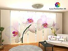 Generic Schiebegardine 8-er Set, Schiebevorhang mit Fotodruck 3D. 2,50x4,80 (8x60cm) Flächenvorhang in alle Massen bestellbar.