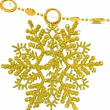 Generic Schneeflocke Hängende Dekoration Weihnachten Xmas Tree Fenster Ornament, gold