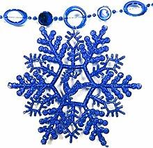 Generic Schneeflocke Hängende Dekoration Weihnachten Xmas Tree Fenster Ornament, blau