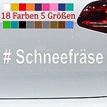Generic # Schneefräse Aufkleber Winterauto