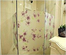 Generic Statische. Dekoration Violett Peach Blossom Schiebetür Wohnzimmer Windows Dekorfolie 90cm x 200cm